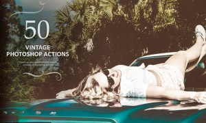 50 Vintage Photoshop Actions PYJLSCS