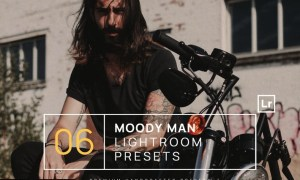 6 Moody Man Portrait Lightroom Presets + Mobile