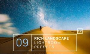 9 Rich Landscape Lightroom Presets + Mobile