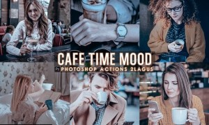 Cafe Time Photoshop Actions 8VNLPD8