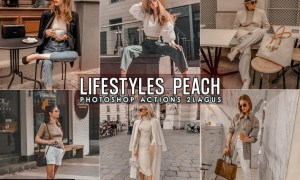 Lifestyles Peach Photoshop Actions M8MFK47
