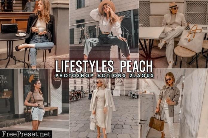 Lifestyles Peach Photoshop Actions M8MFK47