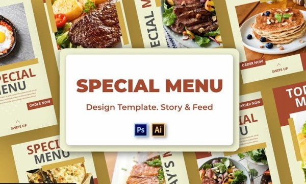 Menu Social Media Template  CBURPT2