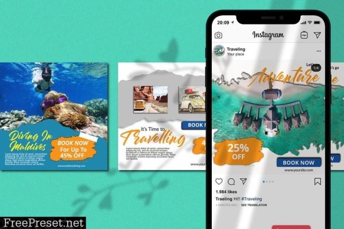 20 Travelling Instagram Pack Banner 9B72NQV