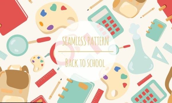 Back To School – Seamless Pattern 8AQY3NW