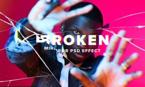 Broken Mirror Photo Effect 5L959VQ