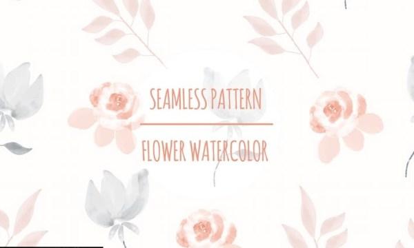 Flower Watercolor – Seamless Pattern FMWHYB3