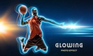 Glowing Outline Photo Effect QVU48NA