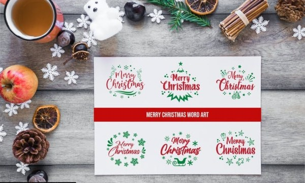 Sets of Christmas Typography P9SUAQS