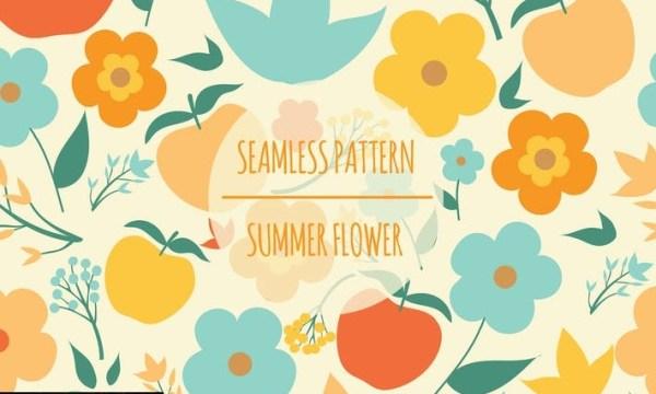 Summer Flower – Seamless Pattern  AHFM9BA