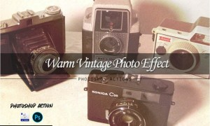 Warm vintage | PSD action LRRQGH3