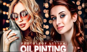 Oil Painting Photoshop Action KJS97UK