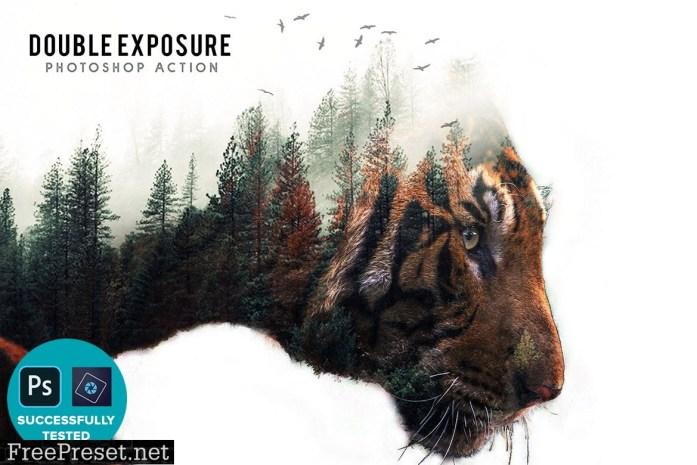 Double Exposure Photoshop Action 2T56TTB