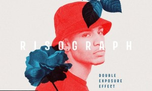 Risograph Double Exposure Effect 63LD8QS