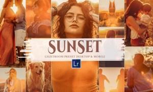 10 Sunset Mobile & Lightroom Presets 5885469