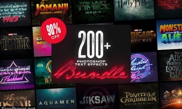200+ Photoshop Text Effects Bundle