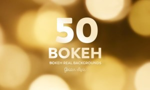 50 Bokeh Real backgrounds - Golden Style