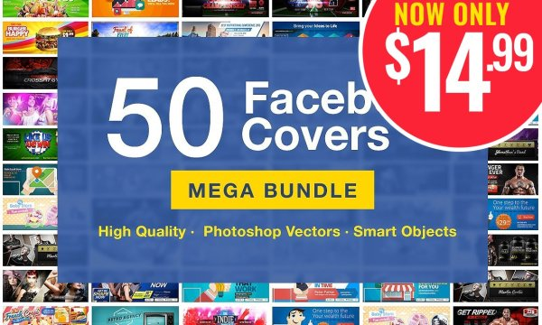 50 Facebook Covers Bundle 3727902