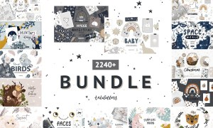Bundle Baby animal Clipart & Pattern 4272886