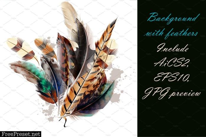 Colorful Feathers Bundle 677728