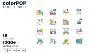 colorPOP Bundle - 1200+ Icons HND3N8