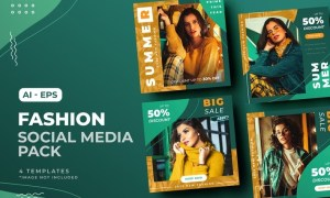 Fashion Sale Social Media Post Template 8B8FP5R
