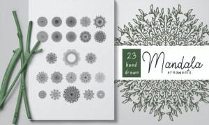 Hand Drawn Mandala Ornaments Bundle 3QZ8ZW