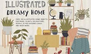 Illustrated Dreamy Home T3U4GL