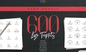 Mega Bundle – 600 Logo Templates 3239162
