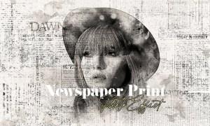 Newspaper Print Photo Effect