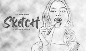 Pencil Sketch Photoshop Action 5928725