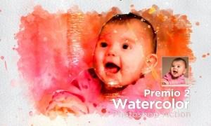 Premio 2 Watercolor Photoshop Action VPZQ9FE