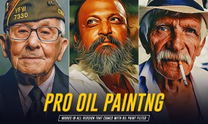 Pro Oil Painting Photoshop Action 5903064