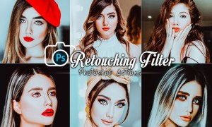 Retouching Filters Photoshop Actions CK2LXWX