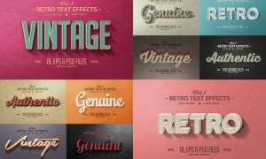 Vintage Text Effects Vol.1 UU8HHE