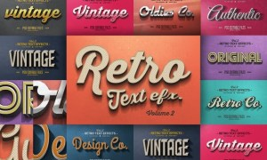 Vintage Text Effects Vol.2 8YMYBH
