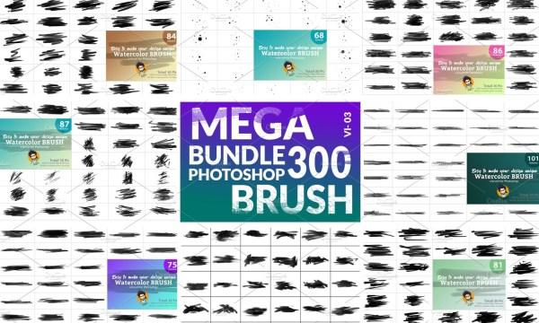 Watercolor Brush Bundle Vl 03 5746829