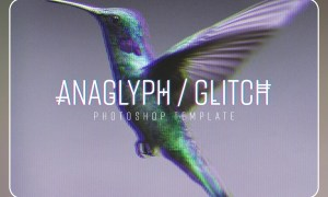 Anaglyph/Glitch Photoshop Template 5794468