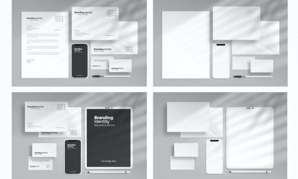 Branding Identity Mockup With Smartphone EAQ9RVH