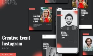 Creative Event Instagram Stories & Post Pack WEY78WG