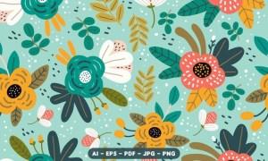 Cute Flower Seamless Pattern CGQW9EG
