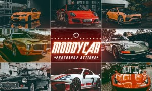 Moody Cars Photoshop Actions