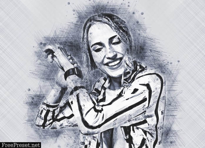 Pencil Canvas Sketch PS Action 5911710