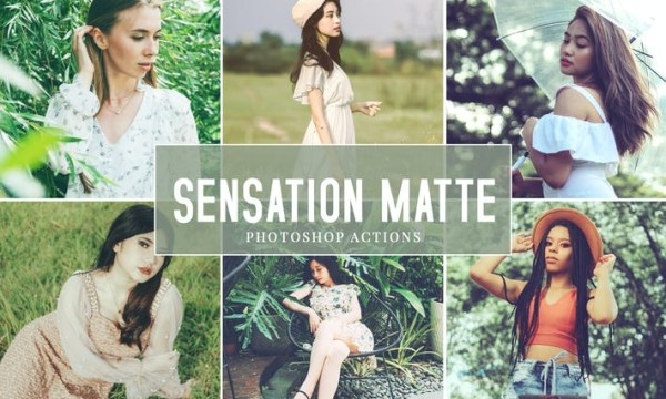 Sensation Matte Photoshop Actions