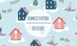 Ski Resort – Seamless Pattern JDQC7C9
