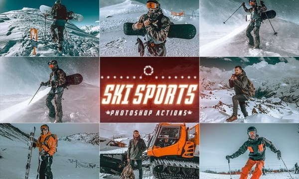 ski Sports Winter Photoshop Actions