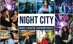 Night City Mobile and Desktop Lightroom Presets