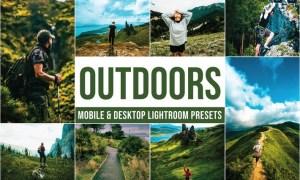 Outdoors Mobile and Desktop Lightroom Presets