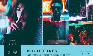 Night Tones Action & Lightroom Preset