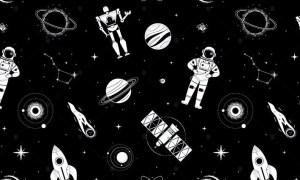 Space Exploration - Flat Design Style Pattern 9UPETXM